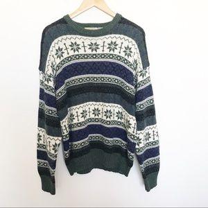 St. John's Bay fair isle print Christmas pullover